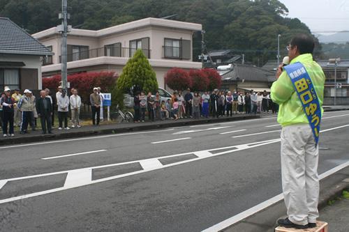 ⑥地元「夏田町・桜ヶ丘」での出陣式